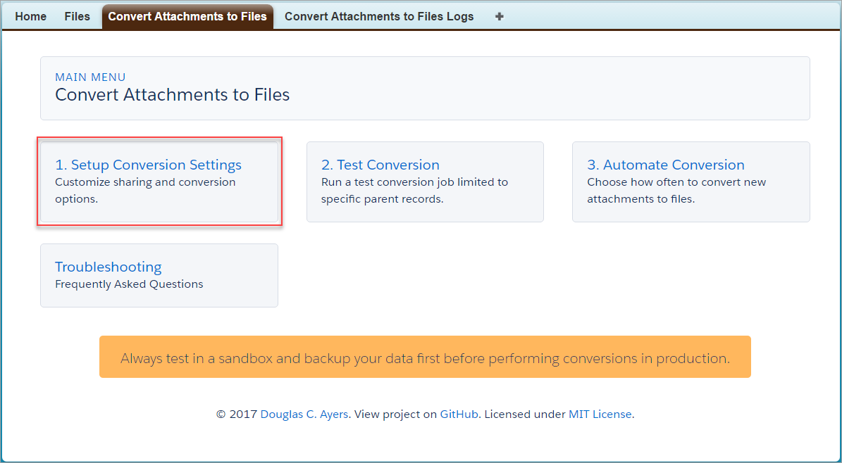 Convert Attachments to Salesforce Files – Douglas C  Ayers